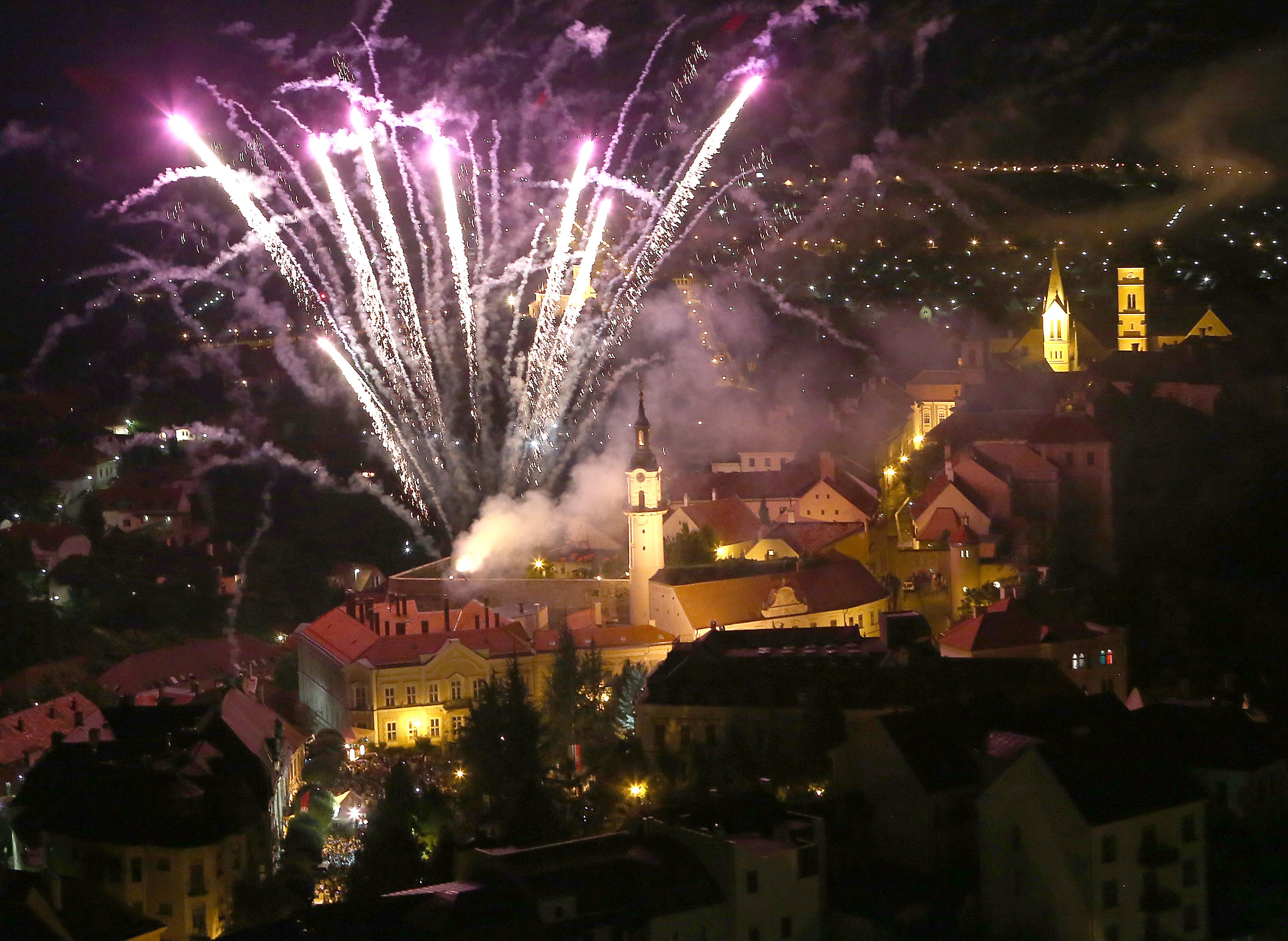 Tűzijáték Veszprémben